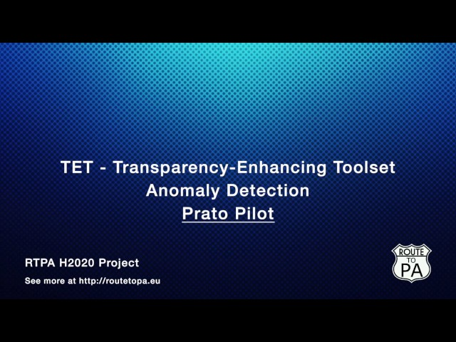 TET Features - Anomaly Detection - Prato