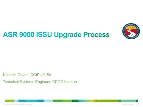 ASR 9000 XR Upgrade using ISSU