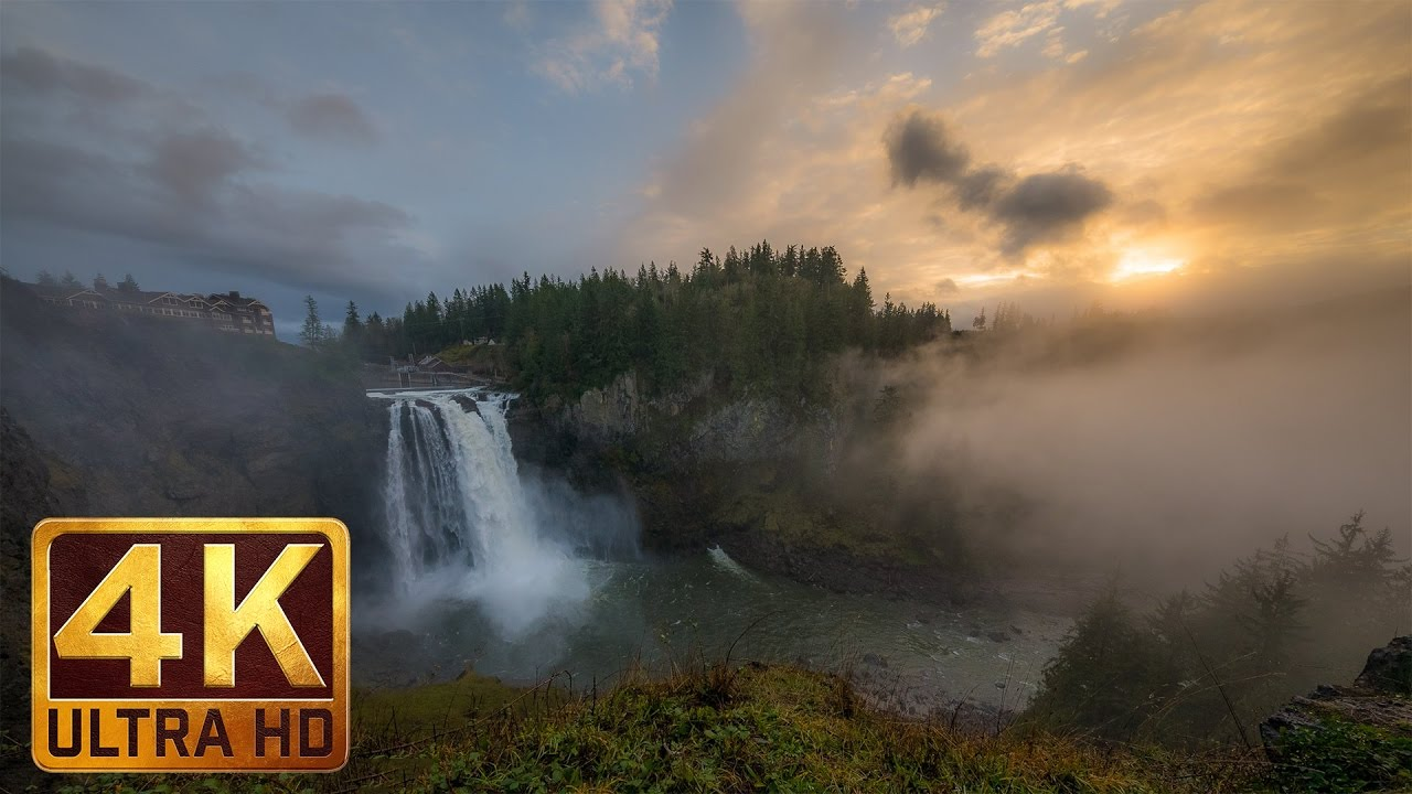 Snoqualmie Falls Wallpaper 2 Hrs Relaxation Video Of Snoqualmie Falls In Wa State In