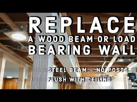 Replacing An Exposed Beam With A Hidden Steel Beam