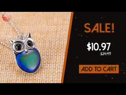 Magical Owl Mood Necklace - Special Edition