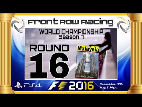 Front Row Racing World Championship Round 16 Malaysia F1 2016