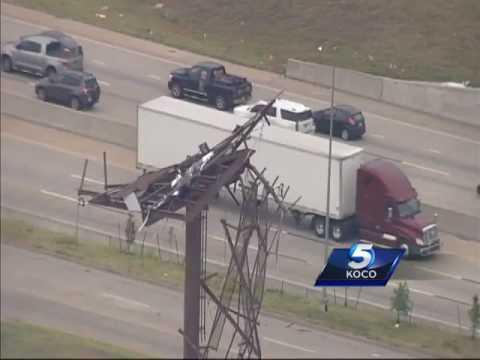 Sky 5 flies over destruction left behind by tornado in Tulsa