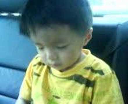 baby sleeping in the car