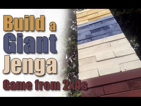 Build Giant Jenga Game From Lumber