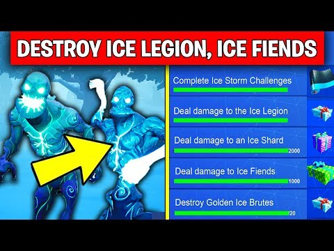 ICE STORM CHALLENGES FREE REWARDS! - Deal damage with explosive weapons to Ice Legions, Ice Fiends