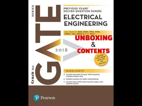 GATE Electrical Engineering Book Unboxing , Previous Years' Solved Question | Pearson Education