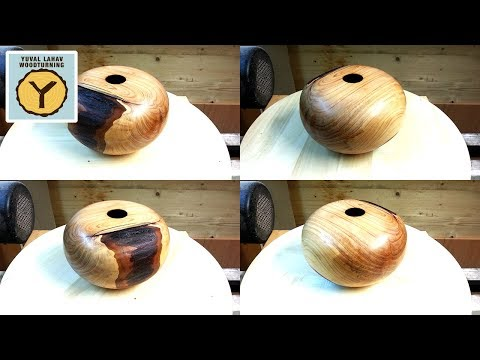 Woodturning Cypress Hollow Form