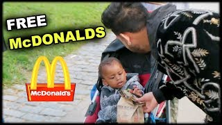 Giving Out 1000 McDONALD'S To HOMELESS **emotional**