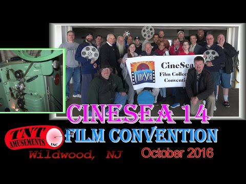 #1212 CINESEA 14 FILM CONVENTION for 8mm & 16mm movies in Wildwood NJ- TNT Amusements