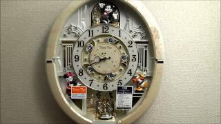 セイコー ディズニータイム Disneyからくり時計(白) FW574W  Seiko Melodies In Motion Wall Clock thumbnail