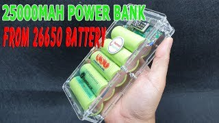 Build a 25000mAh Power Bank QC 3.0 from 26650 Battery