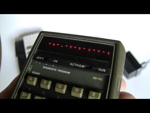 HP 67 Scientific Calculator Completing Diagnostic Program SD-15C