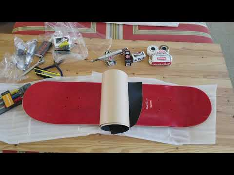 How I Custom Build My SUPREME x Mark Gonzales Ramm Pro Skateboard! Full HD 2017