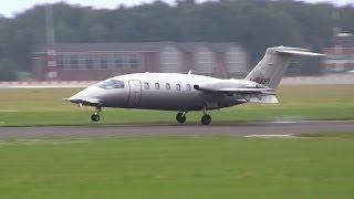 Piaggio P.180 Avanti II ► Landing ✈ Groningen Airport Eelde