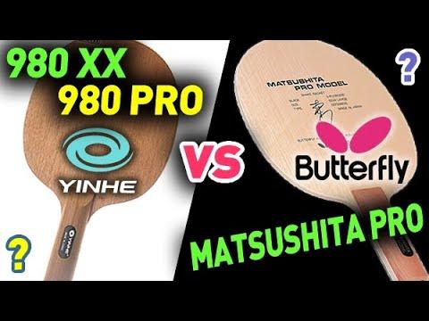 BUTTERFLY Matsushita Pro & YINHE 980 Pro Def - сравнение КЛОНОВ / Compare Of The CLONES