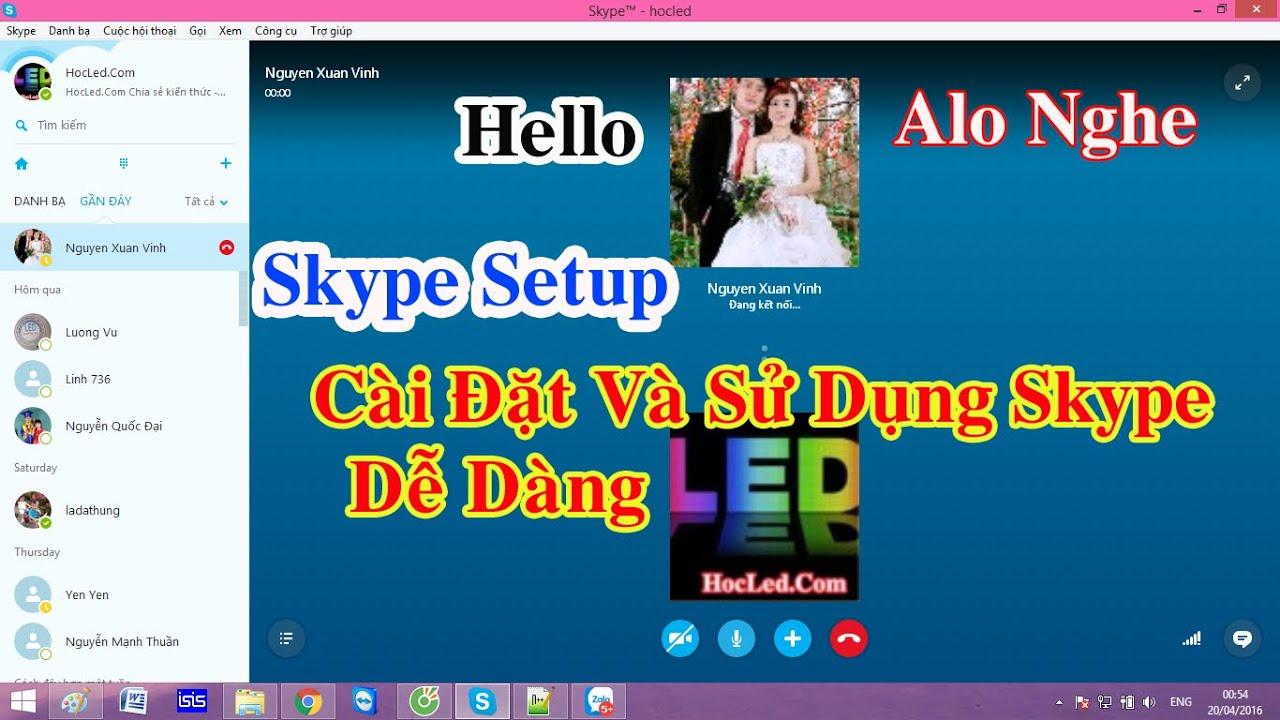 [HocLed.com] Hướng Dẫn Cài Đặt Và Sử Dụng Skype Miễn Phí