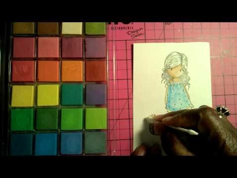 How I Color stamp image using my blending chalk..Please Subscribe & TFW