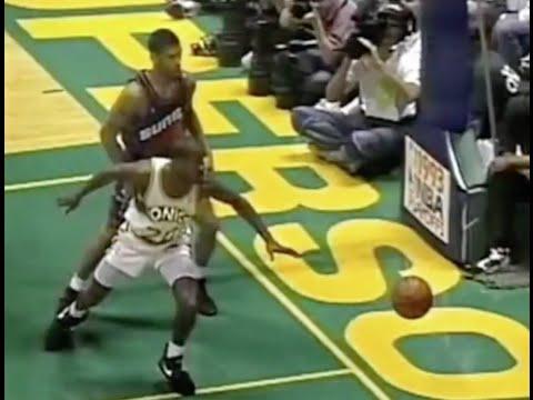 Gary Payton shuts down Kevin Johnson (6 pts, 2/11 FG) - 1993 WCF Game 4