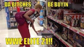 WWE ACTION INSIDER: Elite 21 at TOYSRUS!! store figure aisle shopping Mattel wrestling figures