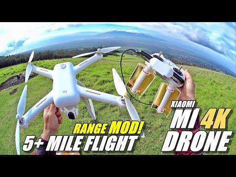 XIAOMI MI Drone 4K - Easy Range Extender Mod Flight Test - 5+ Mile Flight!