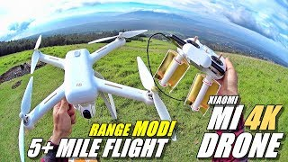 XIAOMI MI Drone 4K - Easy Range Mod & Range Test - 5+ Mile Flight!