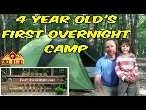 4 Year Old's First Overnight Camping at Fairy Stone State Park, Virginia