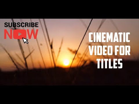 Cinematic background video for short film Titles