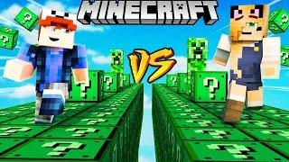 SZALONY WYŚCIG! - CREEPER LUCKY BLOCKI MINECRAFT (Creeper Lucky Block Race)   Vito vs Bella