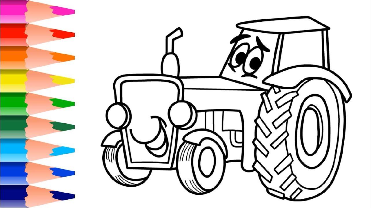 Sevimli Traktor Resmi Nasil Cizilir Eglenceli Cizim Ve Boyama