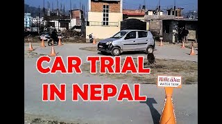 Driving License Trial in Nepal