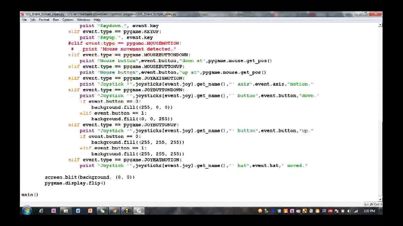 Python Send Joystick Input