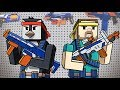 Minecraft | Boy vs Girl - HIDE AND SEEK NERF WAR! (Nerf Guns Challenge)