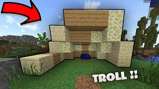 BỨC TƯỜNG GIẢ (Troll) !! Minecraft BEDWARS Trolling