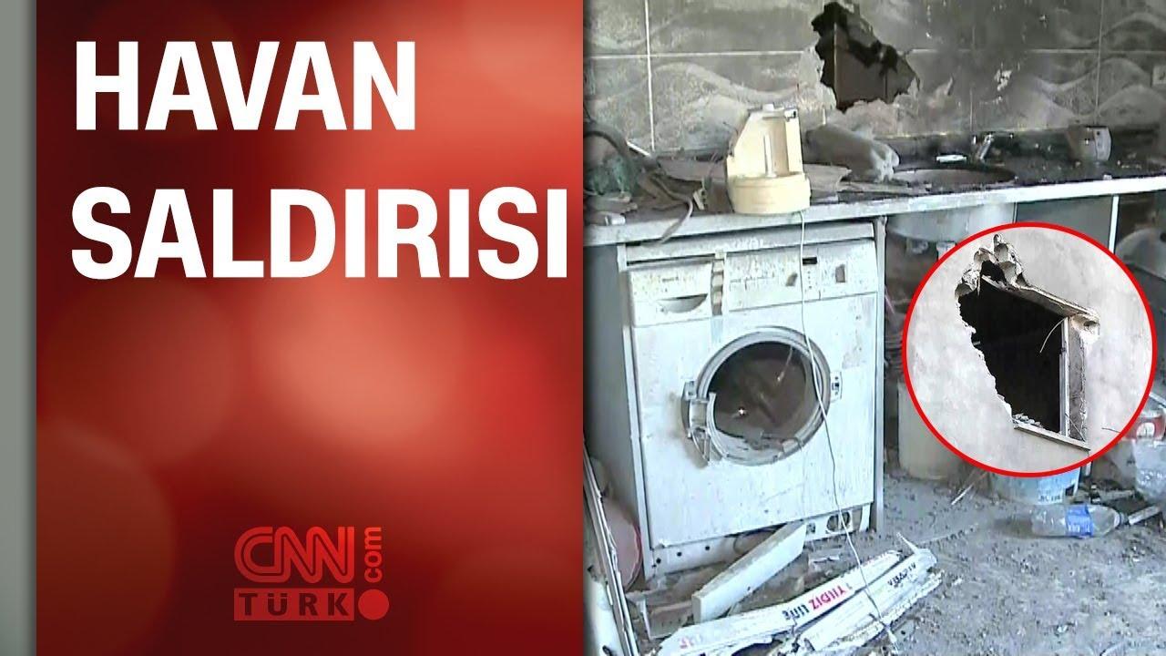 CNN TÜRK havan mermisiyle hasar gören eve girdi