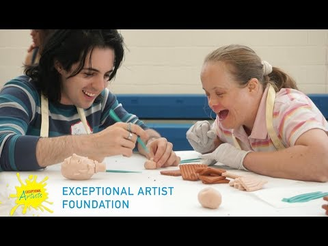 Exceptional Artist Foundation's Art Experience for Special Needs - Jim McKenzie Sculpting Class