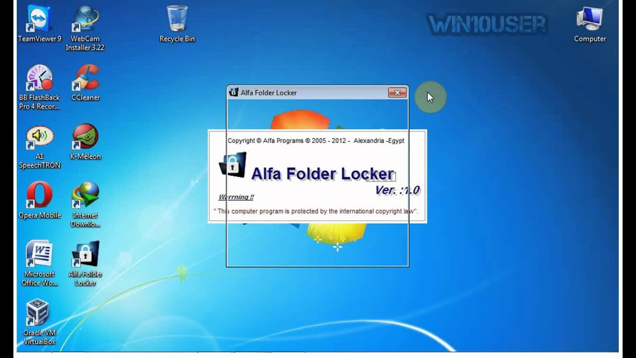 folder locker for windows 7