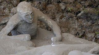 Pompeii, the ancient roman city, was destroyed by pyroclarstic flows from vesuvius in 79 ad. bodys of victims were covered a thick layer pyrocl...