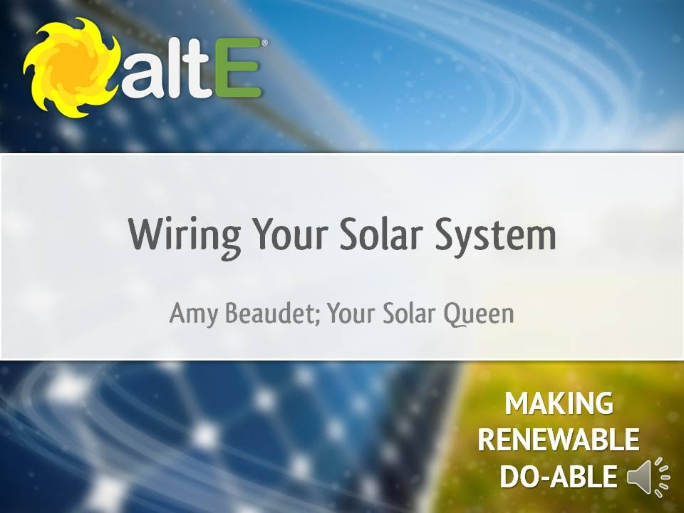 Wiring Your Solar Power System - YouTube
