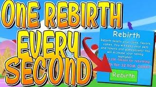 1 REBIRTH EVERY SECOND IN ROBLOX ICE CREAM SIMULATOR!!
