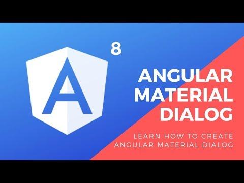 How to create Angular Material Dialog, Modal or alert ( Angular 8 Tutorial ) thumbnail
