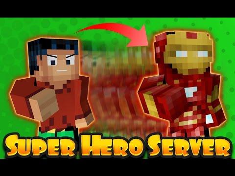 Minecraft Steve Becomes Ironman - SUPER HERO SERVER Fun