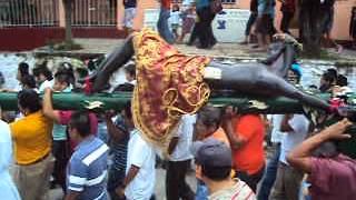 EL CRISTO NEGRO DE OTATITLAN EN CATEMACO, MAÑANA BARRIO DE LA ALEGRIA