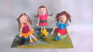 3d dolls paper quilling design ideas