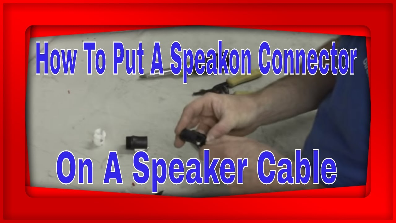 installing a neutrik nl4 speakon connector