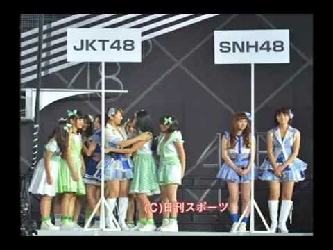 JKT48 Excerpt from TV coverage Tokyo Dome