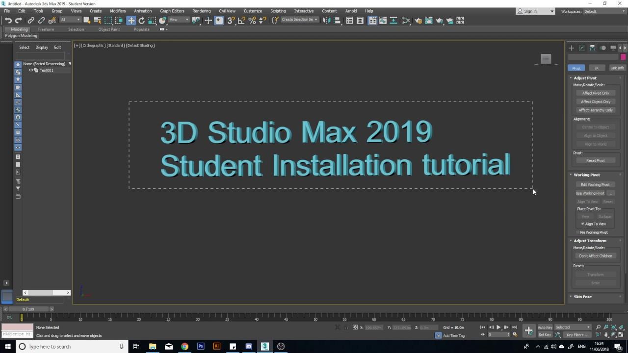 3dsmax Tutorial 01 - Student Installation