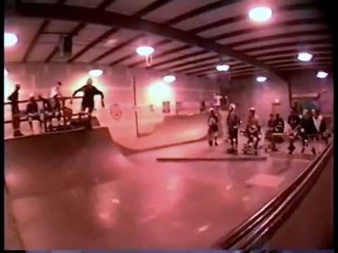 Pluto Sports Skateboard Mini Spine Ramp Contest and Demo 1991