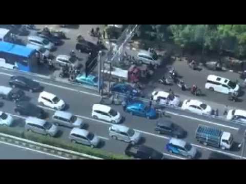 Suasana Demo Taksi Di Jakarta