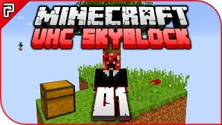 Minecraft UHC Skyblock | The Challenge Begins! | Let's Play Minecraft Survival 1.11 PC [Episode 1]
